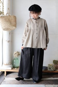 Linen Tuck Wide Pants(un cinq)
