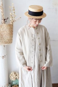 Linen No Collar Jacket(un cinq)