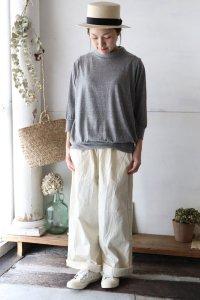 ラフィ—天竺ドルマン・タートルネック7分袖(harmonie)