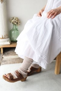 LINEN & ORGANIC COTTON  RIB SANDAL SOCKS(Homie)<img class='new_mark_img2' src='https://img.shop-pro.jp/img/new/icons56.gif' style='border:none;display:inline;margin:0px;padding:0px;width:auto;' />