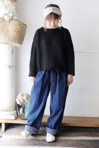 DENIM CLOPPED TROUSERS(chimala)