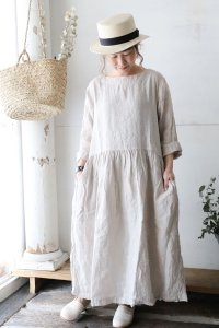 BOAT NECK L/SL ONE-PIECE(ARMEN)