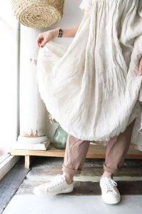 【earthカラー】ふんわり天竺リラックスパンツ*organic cotton*2021(harmonie)