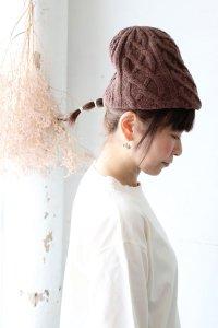 MK-2135 slant cutting knit cap aran2 lamb(mature ha.)