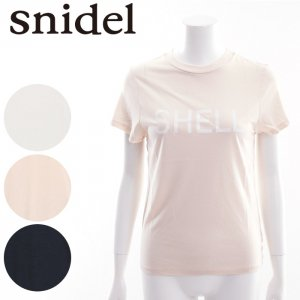 SNIDEL スナイデル シンプルロゴTシャツ SWCT162137 【16SS2】【SALE】【40%OFF】<img class='new_mark_img2' src='//img.shop-pro.jp/img/new/icons20.gif' style='border:none;display:inline;margin:0px;padding:0px;width:auto;' />