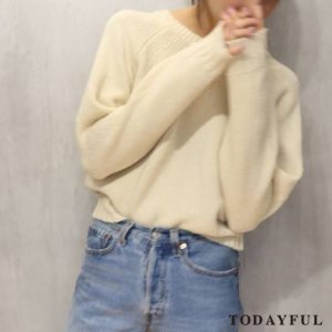 TODAYFUL トゥデイフル Frenchmerino Wool Knit 11620504 【16AW1】【SALE】【30%OFF】<img class='new_mark_img2' src='https://img.shop-pro.jp/img/new/icons20.gif' style='border:none;display:inline;margin:0px;padding:0px;width:auto;' />