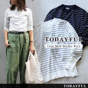TODAYFUL トゥデイフル Crewneck Border Knit 11620526 【16AW1】【SALE】【30%OFF】<img class='new_mark_img2' src='https://img.shop-pro.jp/img/new/icons20.gif' style='border:none;display:inline;margin:0px;padding:0px;width:auto;' />
