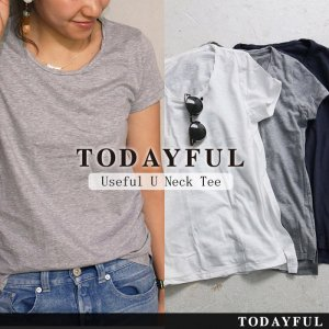 TODAYFUL トゥデイフル Useful U Neck Tee 11690602 【16AW1】【人気商品】 <img class='new_mark_img2' src='//img.shop-pro.jp/img/new/icons31.gif' style='border:none;display:inline;margin:0px;padding:0px;width:auto;' />