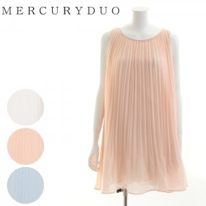 MERCURY マーキュリー 【DUO】 ランダムプリーツシフォンワンピース  001620302001 【16SS2】【人気商品】<img class='new_mark_img2' src='https://img.shop-pro.jp/img/new/icons31.gif' style='border:none;display:inline;margin:0px;padding:0px;width:auto;' />