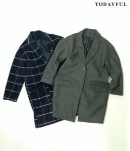 【SOLDOUT】TODAYFUL トゥデイフル Wool Chester Coat 11620019 【16AW2】 <img class='new_mark_img2' src='//img.shop-pro.jp/img/new/icons47.gif' style='border:none;display:inline;margin:0px;padding:0px;width:auto;' />
