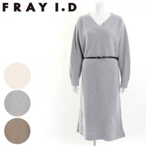 FRAYI.D フレイアイディー VネックルーズニットOP FWNO164074 【16AW1】【SALE】【50%OFF】 <img class='new_mark_img2' src='https://img.shop-pro.jp/img/new/icons20.gif' style='border:none;display:inline;margin:0px;padding:0px;width:auto;' />