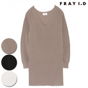 【SOLDOUT】FRAYI.D フレイアイディー 片畦Vプルオーバー FWNT164121 【16AW1】【50☆】<img class='new_mark_img2' src='//img.shop-pro.jp/img/new/icons47.gif' style='border:none;display:inline;margin:0px;padding:0px;width:auto;' />