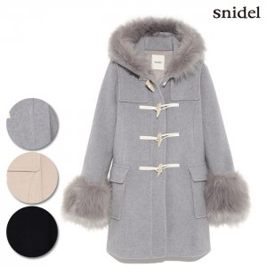 SNIDEL スナイデル フェイクファースリーブダッフルコート SWFC164021 【16AW1】【SALE】【50%OFF】<img class='new_mark_img2' src='//img.shop-pro.jp/img/new/icons20.gif' style='border:none;display:inline;margin:0px;padding:0px;width:auto;' />