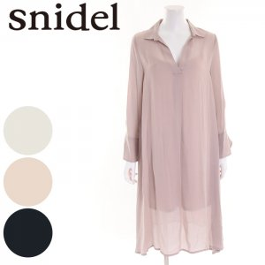 SNIDEL スナイデル VネックシャツミドルOP SWFO164156 【16AW1】【SALE】【50%OFF】 <img class='new_mark_img2' src='//img.shop-pro.jp/img/new/icons20.gif' style='border:none;display:inline;margin:0px;padding:0px;width:auto;' />