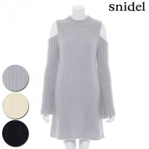 SNIDEL スナイデル モヘアショルダーオープンニットワンピース SWNO164061【16AW1】【SALE】【50%OFF】<img class='new_mark_img2' src='https://img.shop-pro.jp/img/new/icons20.gif' style='border:none;display:inline;margin:0px;padding:0px;width:auto;' />