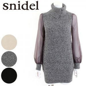 SNIDEL スナイデル シースルースリーブニットOP SWNO164064 【16AW1】 【SALE】【30%OFF】 <img class='new_mark_img2' src='//img.shop-pro.jp/img/new/icons20.gif' style='border:none;display:inline;margin:0px;padding:0px;width:auto;' />