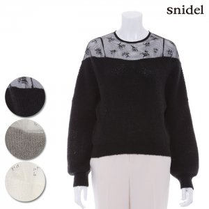【SOLDOUT】SNIDEL スナイデル デコルテシースルーニットプルオーバー SWNT164099 【16AW1】【50☆】<img class='new_mark_img2' src='//img.shop-pro.jp/img/new/icons47.gif' style='border:none;display:inline;margin:0px;padding:0px;width:auto;' />