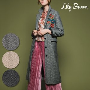 【SOLDOUT】LILY BROWN リリーブラウン フラワー刺繍コート LWFC164091 【16AW1】【50☆】<img class='new_mark_img2' src='https://img.shop-pro.jp/img/new/icons47.gif' style='border:none;display:inline;margin:0px;padding:0px;width:auto;' />