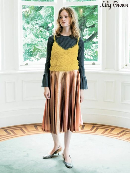 【SOLDOUT】LILY BROWN リリーブラウン シャイニープリーツスカート LWFS164153 【16AW1】【50☆】