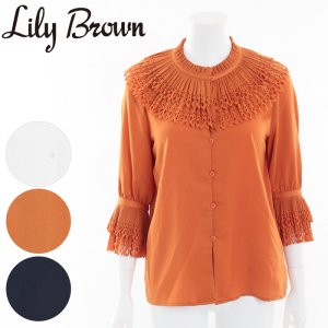 【SOLDOUT】LILY BROWN リリーブラウン カットワークフリルシャツLWFT164169 【16AW1】【50☆】<img class='new_mark_img2' src='//img.shop-pro.jp/img/new/icons47.gif' style='border:none;display:inline;margin:0px;padding:0px;width:auto;' />