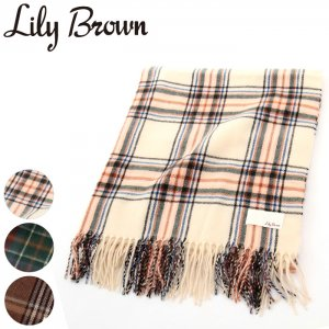 LILY BROWN リリーブラウン チェック柄ストール LWGG164377 【16AW1】【SALE】【50%OFF】<img class='new_mark_img2' src='//img.shop-pro.jp/img/new/icons20.gif' style='border:none;display:inline;margin:0px;padding:0px;width:auto;' />