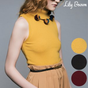 LILY BROWN リリーブラウン ポンポンニットタンク LWNT164066 【16AW1】【SALE】【50%OFF】<img class='new_mark_img2' src='//img.shop-pro.jp/img/new/icons20.gif' style='border:none;display:inline;margin:0px;padding:0px;width:auto;' />