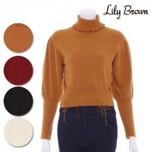 LILY BROWN リリーブラウン 袖ボリュームニットプルオーバー LWNT164070 【16AW1】【SALE】【50%OFF】<img class='new_mark_img2' src='https://img.shop-pro.jp/img/new/icons20.gif' style='border:none;display:inline;margin:0px;padding:0px;width:auto;' />