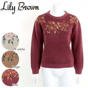 【SOLDOUT】LILY BROWN リリーブラウン ジャガード刺繍ニット LWNT164073 【16AW1】【50☆】<img class='new_mark_img2' src='https://img.shop-pro.jp/img/new/icons47.gif' style='border:none;display:inline;margin:0px;padding:0px;width:auto;' />