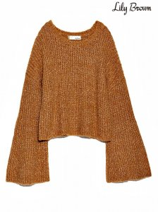【SOLDOUT】LILY BROWN リリーブラウン ベルスリーブプルオーバー LWNT164082 【16AW1】【50☆】<img class='new_mark_img2' src='https://img.shop-pro.jp/img/new/icons47.gif' style='border:none;display:inline;margin:0px;padding:0px;width:auto;' />