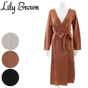 LILY BROWN リリーブラウン ミラノリブロングカーディガン LWNT164106 【16AW1】【SALE】【50%OFF】<img class='new_mark_img2' src='//img.shop-pro.jp/img/new/icons20.gif' style='border:none;display:inline;margin:0px;padding:0px;width:auto;' />
