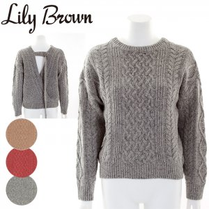 LILY BROWN リリーブラウン 後ろあきケーブルニットプルオーバー LWNT164119 【16AW1】【SALE】【50%OFF】<img class='new_mark_img2' src='https://img.shop-pro.jp/img/new/icons20.gif' style='border:none;display:inline;margin:0px;padding:0px;width:auto;' />