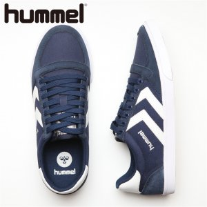 HUMMEL ヒュンメル Slimmer Stadil Low CVS 【カラー: D.BLUE/White】 HM63112K-7647 【16AW】 【新作】 <img class='new_mark_img2' src='https://img.shop-pro.jp/img/new/icons11.gif' style='border:none;display:inline;margin:0px;padding:0px;width:auto;' />