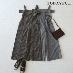 TODAYFUL トゥデイフル Offshoulder Check Combinasion 11720316 【17AW2】【先行予約】【クレジット限定 納期12月〜1月頃予定】 <img class='new_mark_img2' src='https://img.shop-pro.jp/img/new/icons15.gif' style='border:none;display:inline;margin:0px;padding:0px;width:auto;' />