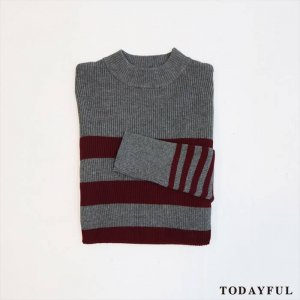【SOLDOUT】TODAYFUL トゥデイフル Highneck Border Knit 11620541 【16AW2】 <img class='new_mark_img2' src='//img.shop-pro.jp/img/new/icons47.gif' style='border:none;display:inline;margin:0px;padding:0px;width:auto;' />