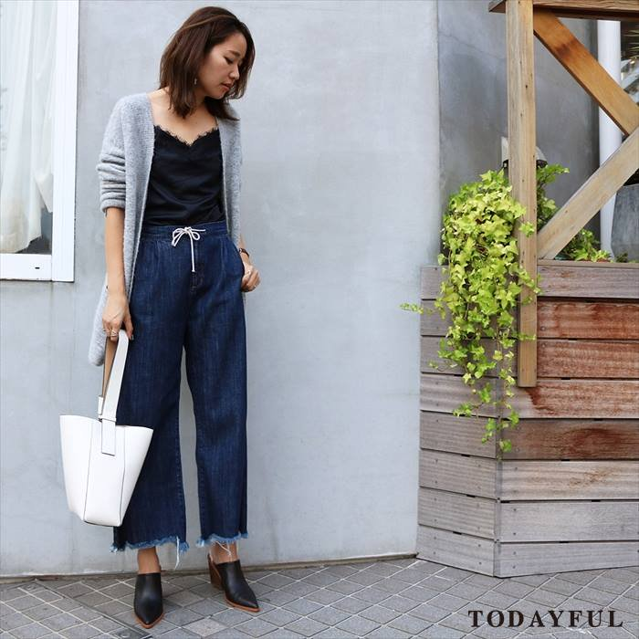 【SOLDOUT】TODAYFUL トゥデイフル Fringe Easy Denim 11621415 【16AW2】 【30☆】