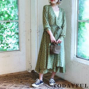 【完売】【SOLDOUT】TODAYFUL トゥデイフル Cache-coeur Chiffon Dress 11720324 【17AW2】【20☆】