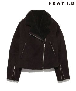 【SOLDOUT】FRAYI.D フレイアイディー フェイクムートンライダースJK FWFJ165290 【16AW2】【50☆】<img class='new_mark_img2' src='https://img.shop-pro.jp/img/new/icons47.gif' style='border:none;display:inline;margin:0px;padding:0px;width:auto;' />