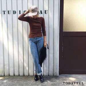 【SOLDOUT】TODAYFUL トゥデイフル Boatneck Rib Knit 11620544 【16AW2】  <img class='new_mark_img2' src='https://img.shop-pro.jp/img/new/icons47.gif' style='border:none;display:inline;margin:0px;padding:0px;width:auto;' />