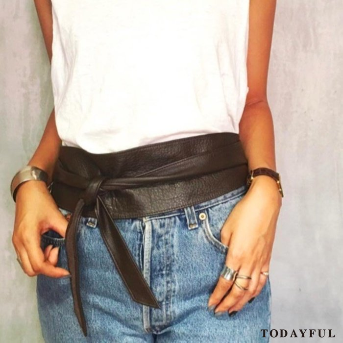 【SOLDOUT】TODAYFUL トゥデイフル Leather Sash Belt 11621075 【17SS2】