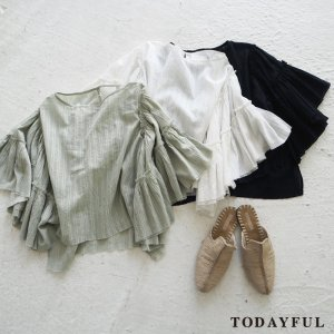 TODAYFUL トゥデイフル Butterfly Sleeve Blouse 11710429 【17SS2】【先行予約】【クレジット限定 納期6月頃予定】 <img class='new_mark_img2' src='https://img.shop-pro.jp/img/new/icons15.gif' style='border:none;display:inline;margin:0px;padding:0px;width:auto;' />