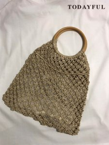 【SOLDOUT】TODAYFUL トゥデイフル Circlehand Abaca Bag 11711048 【17SS2】<img class='new_mark_img2' src='https://img.shop-pro.jp/img/new/icons47.gif' style='border:none;display:inline;margin:0px;padding:0px;width:auto;' />