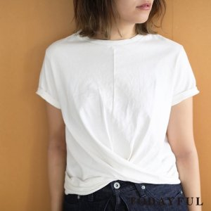 TODAYFUL トゥデイフル Front Cross Tee 11810604 【18SS1】【先行予約】【クレジット限定 納期3月〜4月頃予定】 <img class='new_mark_img2' src='https://img.shop-pro.jp/img/new/icons15.gif' style='border:none;display:inline;margin:0px;padding:0px;width:auto;' />