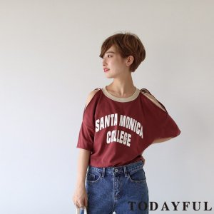 TODAYFUL トゥデイフル Openshoulder Remake Tee 11810611 【18SS1】 【SALE】【50%OFF】<img class='new_mark_img2' src='https://img.shop-pro.jp/img/new/icons20.gif' style='border:none;display:inline;margin:0px;padding:0px;width:auto;' />