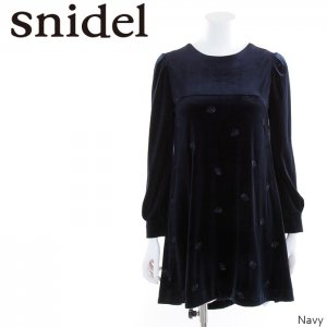 SNIDEL スナイデル ベロアエンブロイダリーOP SWFO165003 【16AW2】【SALE】【30%OFF】<img class='new_mark_img2' src='//img.shop-pro.jp/img/new/icons20.gif' style='border:none;display:inline;margin:0px;padding:0px;width:auto;' />