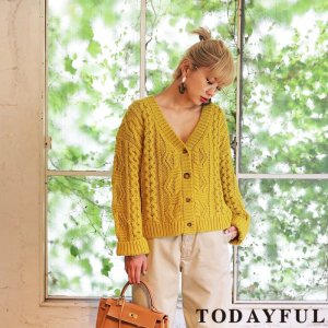 【SOLDOUT】TODAYFUL トゥデイフル 2way Knit Cardigan 11720504 【17AW2】 <img class='new_mark_img2' src='https://img.shop-pro.jp/img/new/icons47.gif' style='border:none;display:inline;margin:0px;padding:0px;width:auto;' />