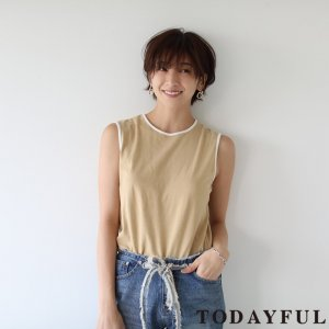 TODAYFUL トゥデイフル Bi-color Box Tank 11810617 【18SS1】【先行予約】【クレジット限定 納期3月〜4月頃予定】 <img class='new_mark_img2' src='https://img.shop-pro.jp/img/new/icons15.gif' style='border:none;display:inline;margin:0px;padding:0px;width:auto;' />