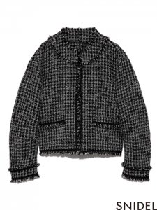 SNIDEL スナイデル ツイードJK SWFJ194019 【19AW1】【新作】 <img class='new_mark_img2' src='https://img.shop-pro.jp/img/new/icons11.gif' style='border:none;display:inline;margin:0px;padding:0px;width:auto;' />
