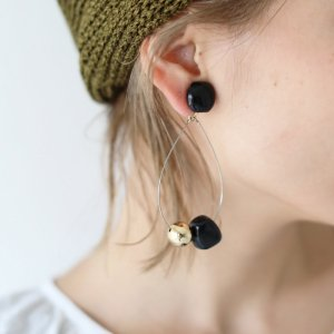 【SOLDOUT】TODAYFUL トゥデイフル Stone Hoop Earring 11810903 【18SS1】