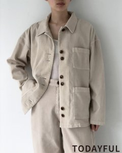 TODAYFUL トゥデイフル Soutiencollar Corduroy Jacket 11920101 【19AW1】【先行予約】【クレジット限定 納期9月〜10月頃予定】 <img class='new_mark_img2' src='https://img.shop-pro.jp/img/new/icons15.gif' style='border:none;display:inline;margin:0px;padding:0px;width:auto;' />
