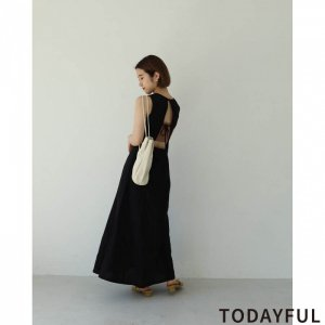 TODAYFUL トゥデイフル Backopen Tie Dress 11920312 【19AW1】【新作】 <img class='new_mark_img2' src='https://img.shop-pro.jp/img/new/icons11.gif' style='border:none;display:inline;margin:0px;padding:0px;width:auto;' />